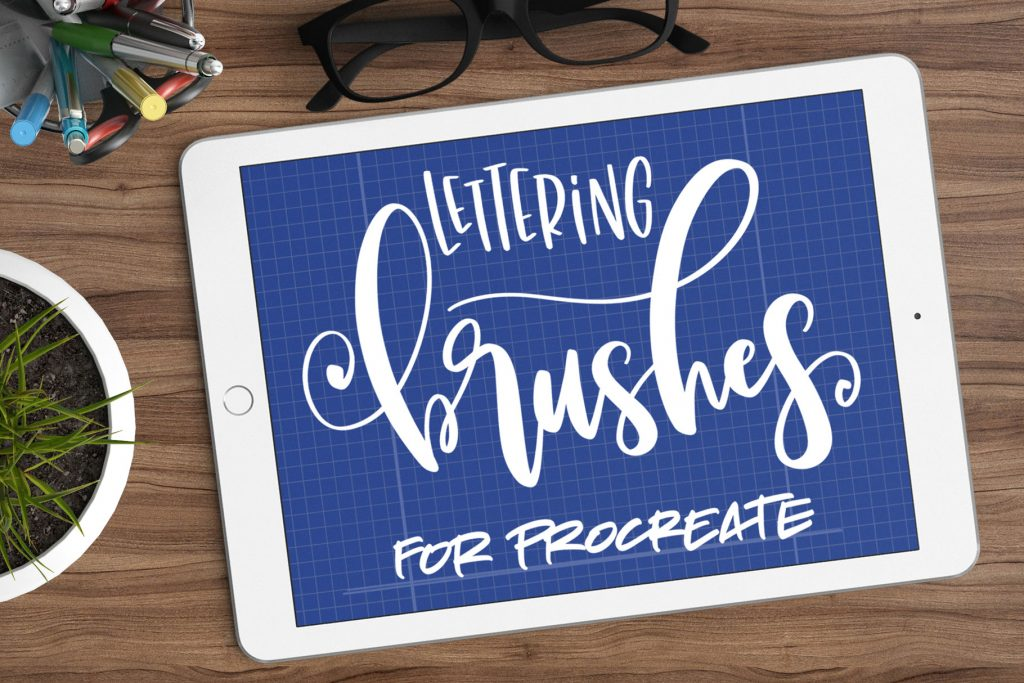 9 lettering brushes for Procreate by Missy Meyer