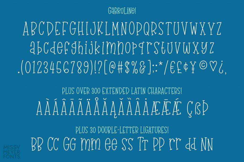 GarruLine Single Line Font