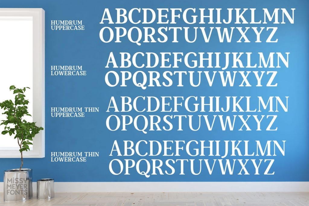 Humdrum font from Missy Meyer fonts