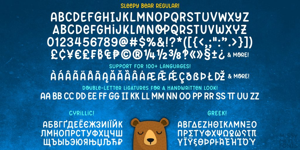 Sleepy Bear Font by Missy Meyer